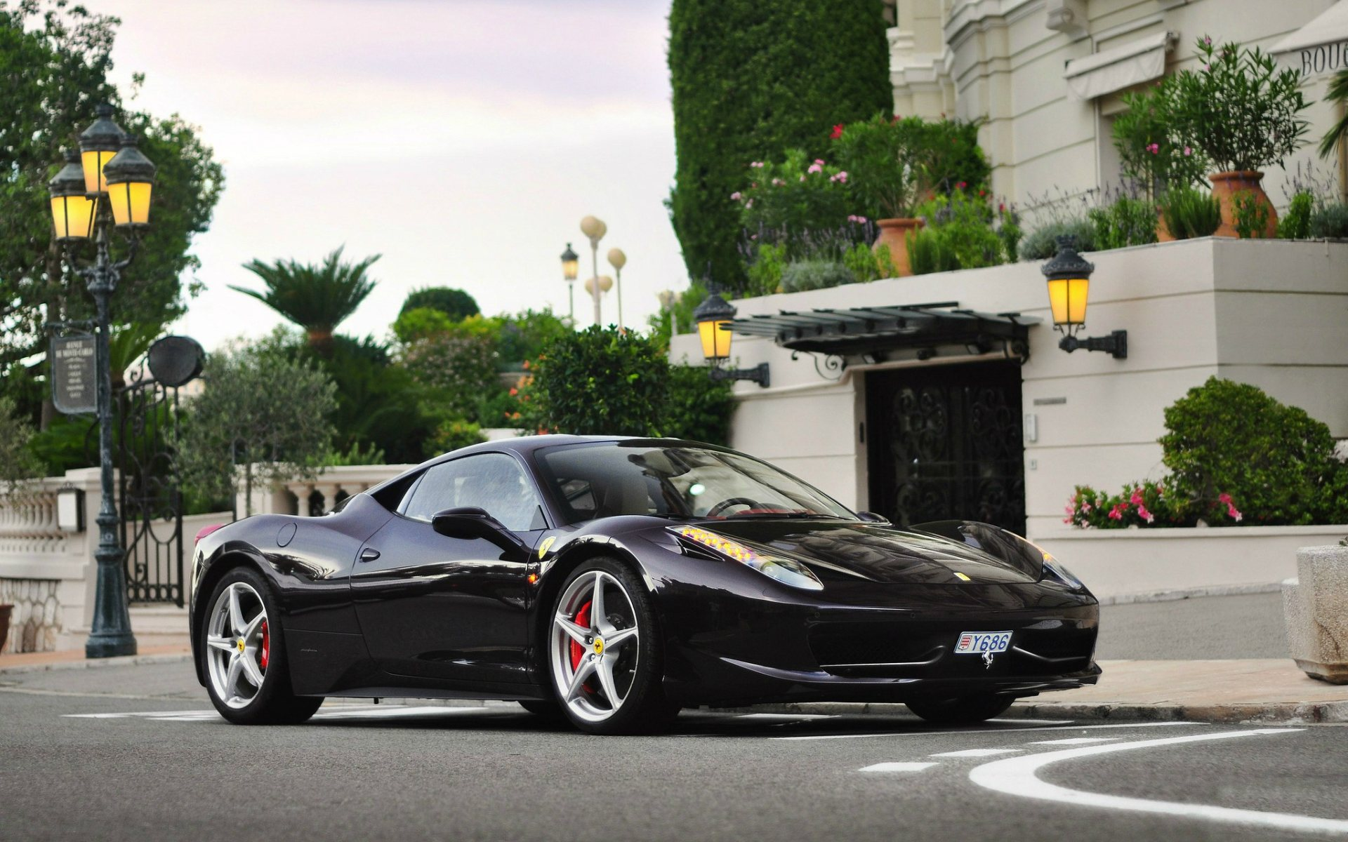Обои Феррари, Ferrari 458 italia, улица. Автомобили foto 12