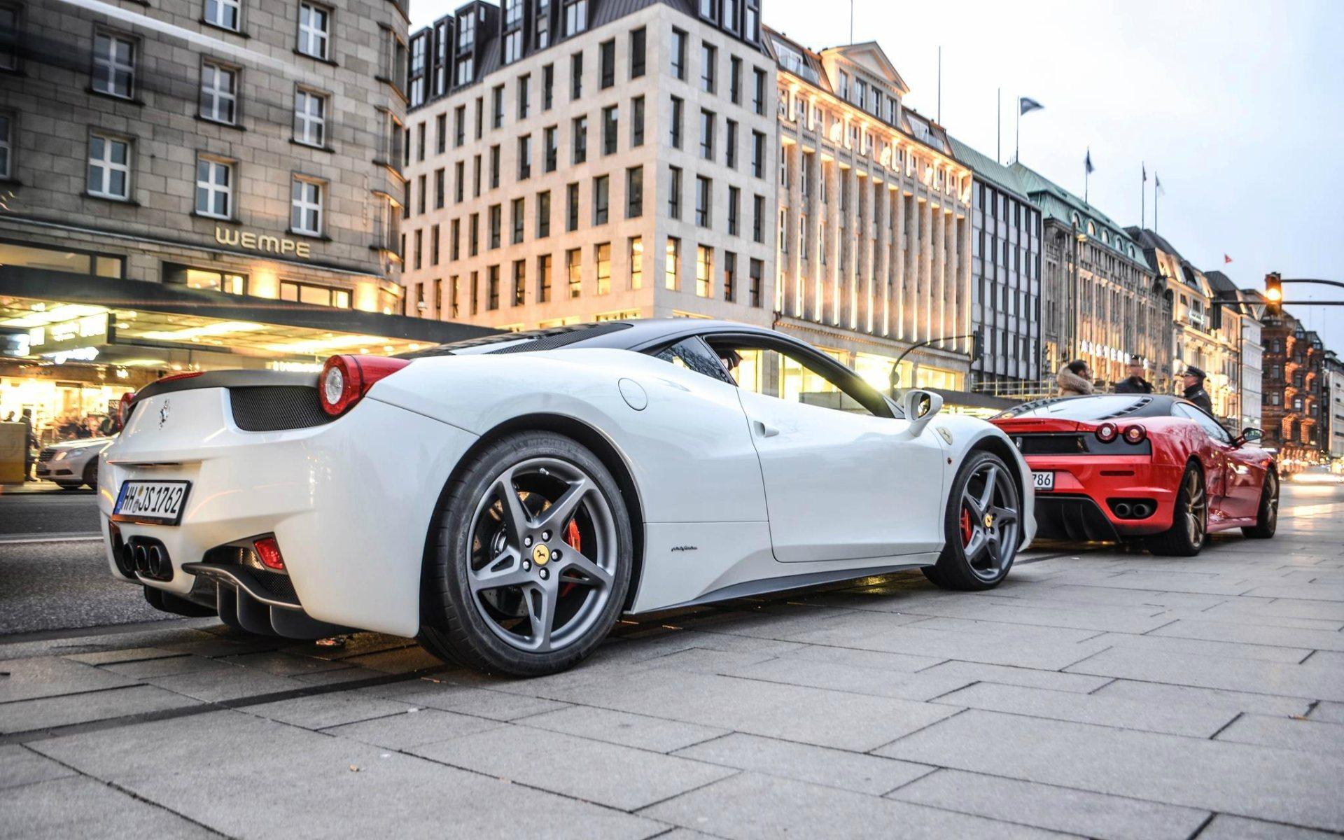 Обои Феррари, Ferrari 458 italia, улица. Автомобили foto 11