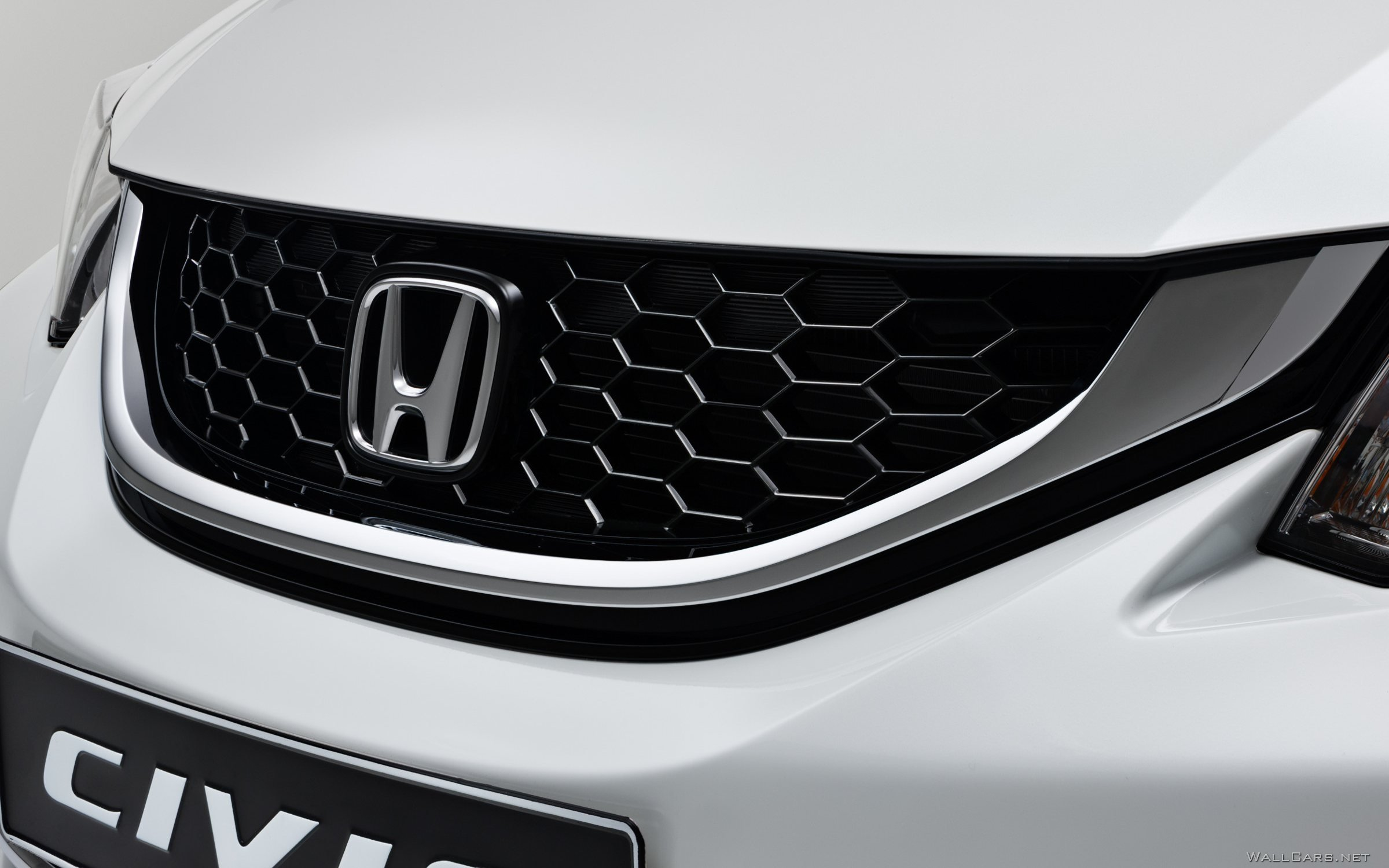 Черная решетка радиатора Honda Civic, Хонда Цивик, значок