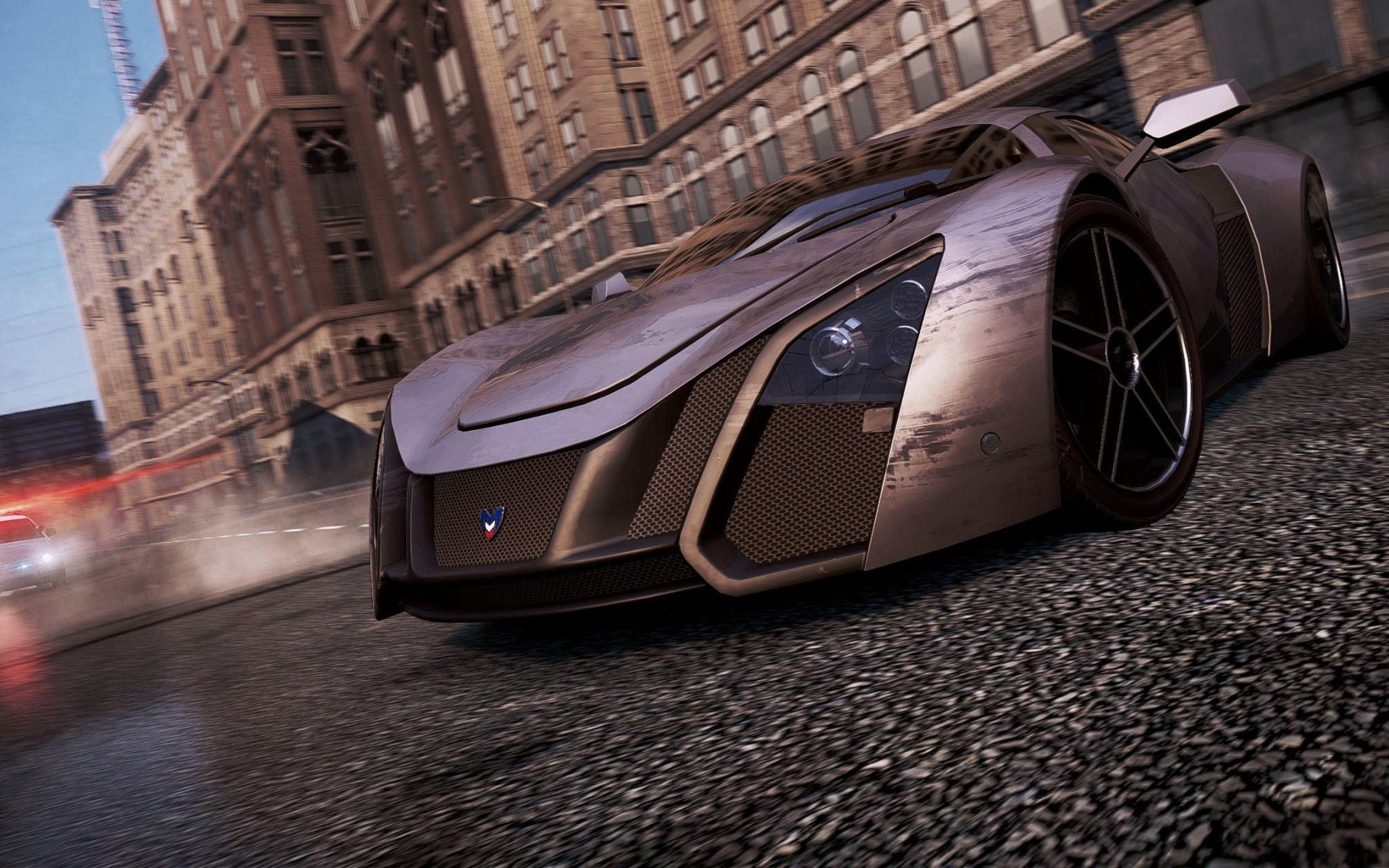 Поцарапанная Marussia B2 в игре Need for Speed Most Wanted