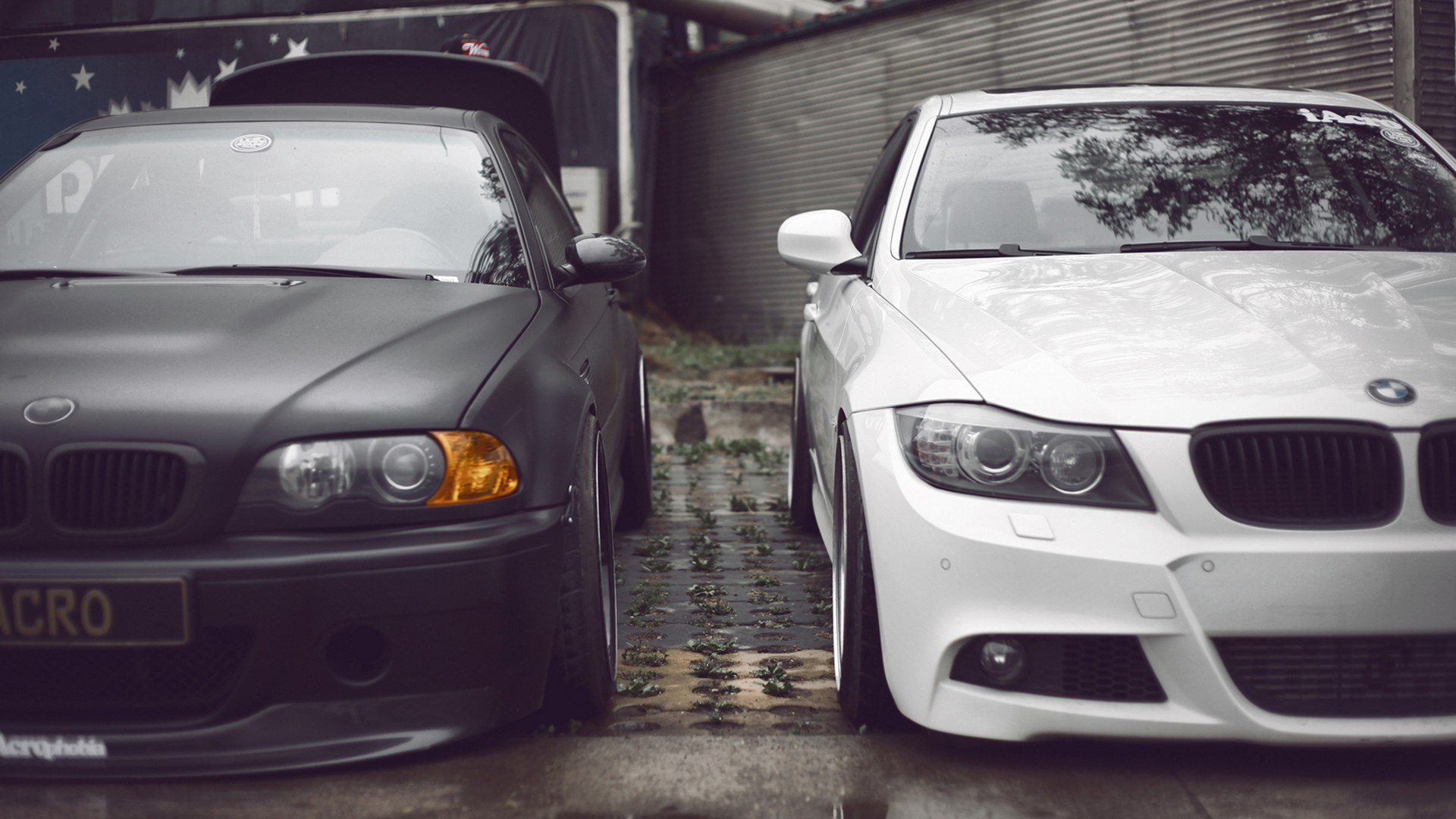 Black and White BMW 3 series