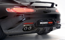 Rear lights, Mercedes-AMG GT S, Brabus 600, 2015, spoiler, back, tuning, balck, details, photo