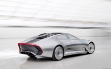 Silver Arrow, Mercedes-Benz Concept IAA, 2015, rear lights, speed, future, new