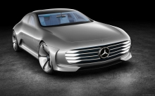 Front, Mercedes-Benz Concept IAA, 2015, headlights, hood, logo, wheels, rims