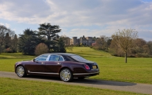 Фиолетовый Bentley Mulsanne, Бентли Мульсан, поле, природа, деревья, замок