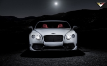 Свет фар Bentley Continental GT в темноте
