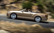 Кабриолет, спорт, стиль, бежевый Bentley Continental GT Convertible,  2015, скорость