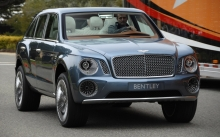 Салон из белой кожи в новом внедорожнике Bentley EXP 9 F Concept