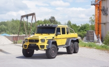 Front, headlights, hood Mercedes-Benz G63 AMG 6x6, Mansory, 2015, yellow, offroad, SUV