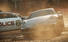 Need for Speed Most Wanted 2012, NFS MW, Porsche 911 Carrera S, Белая Порше Каррера, город, пыль, улица
