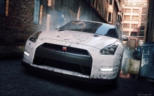 Need for Speed Most Wanted 2012, NFS MW, Nissan GT-R, Белый Ниссан ГТ-Р, переулок, город