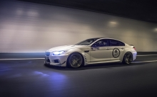Синий свет фар BMW M6 Gran Coupe от Prior-Design в тоннеле