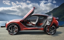 Interior of Nissan Gripz Concept, 2015, doors, wheels, side, seat, nature, lake, sky, clouds, coast