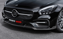 Front, headlights, tuning, logo, Mercedes-AMG GT S, Brabus, 2015, bumper, details, hood