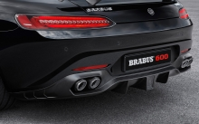 Rear lights, Mercedes-AMG GT S, Brabus, 2015, details, macro, tuning, back, black