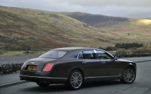 Серый Bentley Mulsanne, Бентли Мульсан, поле, долина, холмы, природа