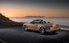 Фото, закат, море, пейзаж, кабриолет, Bentley Continental GT Convertible,  2015, стиль