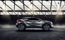 Side of Toyota C-HR Concept, 2015, sheels, details, design, hood, roof, rear lights