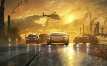 Need for Speed, NFS Hot Pursuit, Lamborghini Murcielago, вертолет, Bugatti Veyron