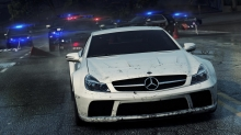 Погоня за белым Mercedes-Benz Sl класса в игре NFS Most Wanted