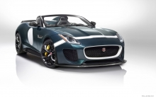 передок Jaguar F-Type Project 7, Ягуар Проект 7, фары, диски, решетка радиатора, студия, Фото Ягуар, 2015
