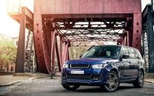 Синий Land Rover Range Rover Vogue 600LE, 2014, фары, тюнинг