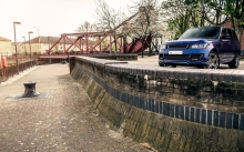 Синий Range Rover 600-LE Luxury Edition, Kahn Design, Рендж Ровер, каналы, город, Лондон