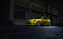 Ночь, улица, асфальт, город, Lexus IS 350 F Sport Vossen Wheels, 2014, Лексус, фото