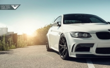 Headlights of BMW E92 M3, Vorsteiner, 2007-2013, white, rims, tuning, hood
