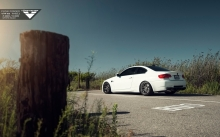 White BMW E92 M3, Vorsteiner, 2007-2013, tuning, coupe, rims, rear, field, wky